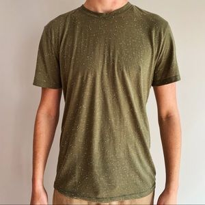 Army green and white speckled Men's T-Shirt